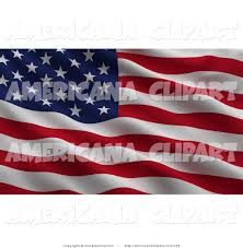 waving american flag clip