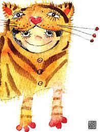 kid cards tiger costume kid watercolor greeting card by masha d yansmasha