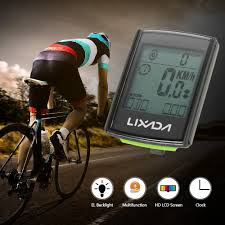 lixada 3 in 1 wireless lcd bicycle cycling sales online black