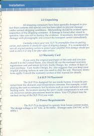 cary audio design slp 70 w phono manual reprint u0026 mods