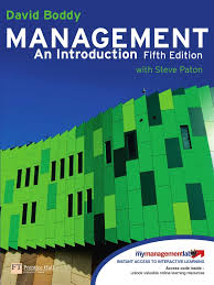 management an introduction 5th edition by david boddy