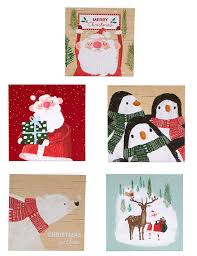 winter characters charity cards pack of 30 m s