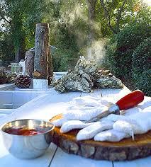 coastal rustic christmas with an oyster roast