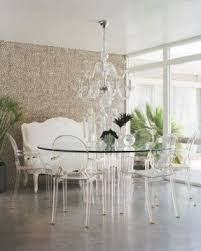 Ghost Dining Chair Clear Glass Dining Table Foter