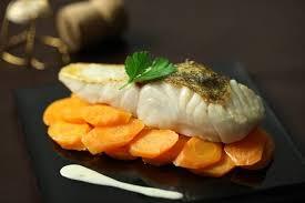 cuisiner un sandre recette de pavé de sandre crème de chagne carottes fondantes