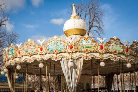 ornate carousel or merry go stock photo image 41033258