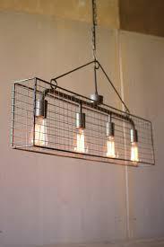 4 bulb wire mesh horizontal pendant light