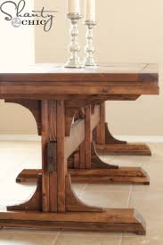 Free Wooden Table Plans by Ana White Triple Pedestal Farmhouse Table Diy Projects