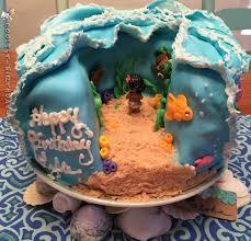 Tropical Theme Birthday Cake - cupcake amazing disney moana birthday party tropical themed