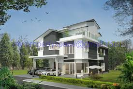 modern bungalow house design malaysia contemporary plans idolza