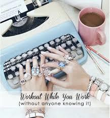Workout At Desk Exercises To Do At Your Desk Popsugar Fitness