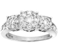 engagement ring design 3 cluster design diamond ring 14k 1cttw by affinity page