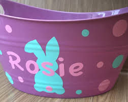 personalized easter buckets blue easter etsy