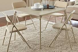 Cosco Products 5 Piece Folding Table And Chair Set Tan Relaxbuddy