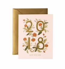 new year new address cards 2018 new year greeting card by rifle paper co made in usa
