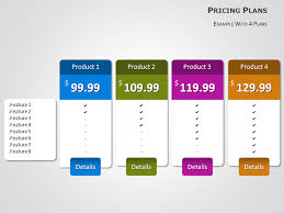 pricing tables for powerpoint