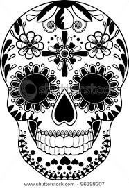 gallery for sugar skull black and white clip tats