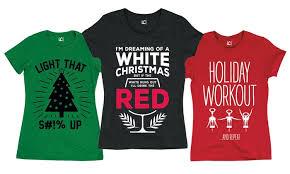 christmas shirts women s christmas humor t shirts groupon goods