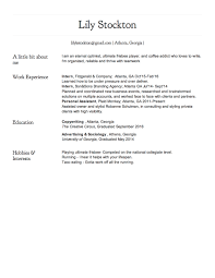 Hobbies And Interests For A Resume Resume U2014 Lily Stockton