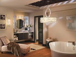 luxury bathroom idea with kichler lighting design