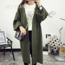 wholesale casual knitted long cardigan sweater women autumn winter