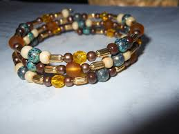 amber bead bracelet images Boho colors beaded bracelet memory by fantasticfrippery on zibbet jpg