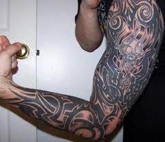celtic full sleeve tattoo with skull
