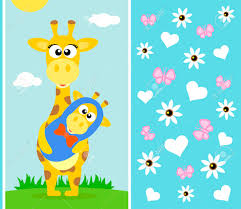s day giraffe s day background card with giraffe royalty free cliparts