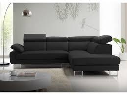 canapé d angle noir et gris canapé d angle en cuir de vachette 5 coloris colisee