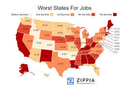 Cheapest Place To Live In Usa These Are The 10 Best States In America To Get A Job Zippia