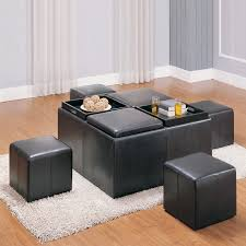 Leather Storage Ottoman Coffee Table Leather Storage Ottoman Coffee Table