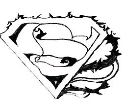 batman superman free coloring pages printable symbol superman