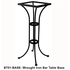 Iron Bistro Table Ow Standard Wrought Iron Bar Height Bistro Table Base Bt01 Base