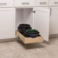 kitchen cabinet storage solutions lowes simply put 14 625 in w x 5 in h 1 tier pull out wood soft baskets organizers