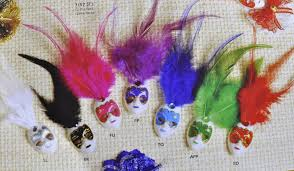 miniature mardi gras masks mini mardi gras feathered glitter clip mask venetian masquerade
