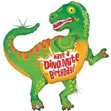 dinosaur birthday supershape foil balloon