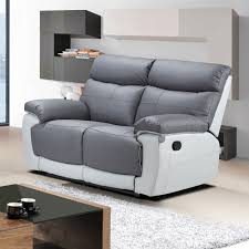 Leather Recliner Sectional Sofa Off White Leather 2143 Modern Reclining Sectional Sofa By Esf