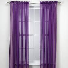 Purple Sheer Curtains Grace Comfort 2 Solid Purple Sheer Panel Curtain Set 60 X