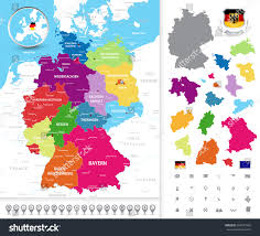 Map Of Germany Cities by Highly Detailed Political Map Germany Administrative Stock Vector