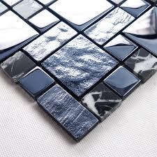 get cheap black glass mosaic bathroom tiles aliexpress com