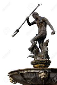 the neptune bronze statue of the roman god of the sea poseidon