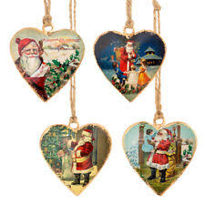 Metal Father Christmas Decorations by Santa Metal Christmas Tree Ornaments Ebay