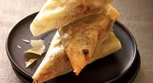 cuisine sucré salé de croustillants samoussas sucré salé au pélardon