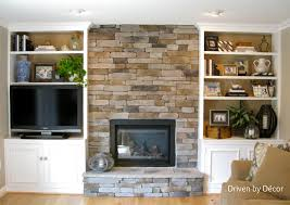 Built In Bookcase Ideas Transforming A Fireplace And Built In Bookcases Love The Stone