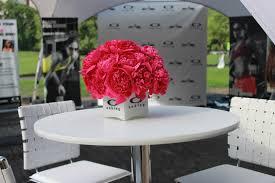 Peony Floral Arrangement by Pink Peony Arrangements At The Oakley New York Mini 10k Run