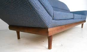 Flexsteel Curved Sofa by Mid Century Modern Adrian Pearsall Style Sofa At 1stdibs
