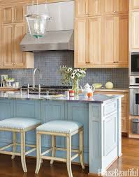 kitchen blue and copper subway tile kitchen pinterest backsplash