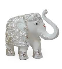 silver gift items india white elephant 3 inch silver plated online gifts shopping india