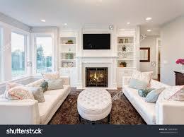 beautiful livingroom stock photo beautiful living room in luxury home on