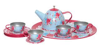 vintage tea set tribe vintage childrens tin tea set 15pc
